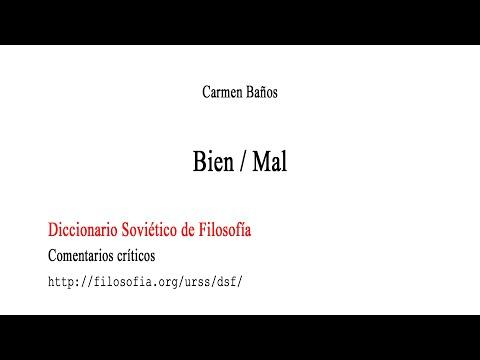 Bien y Mal en el Diccionario soviético de filosofía - Carmen Baños