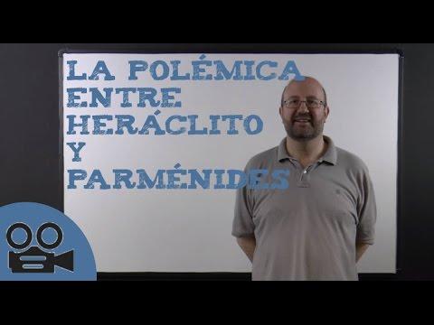 La polémica entre Heráclito y Parménides