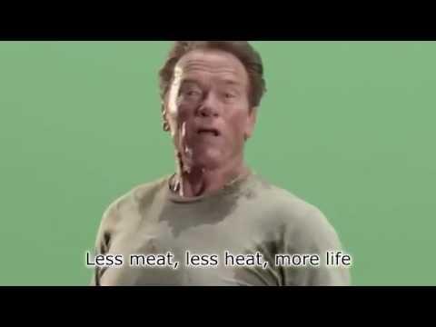 Menos carne, menos calentamiento: detrás de cámaras con James Cameron & Arnold Schwarzenegger