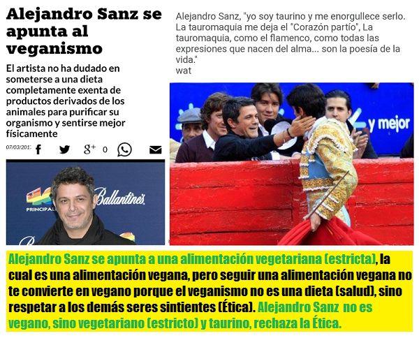 Alejandro Sanz no es vegano, es taurino