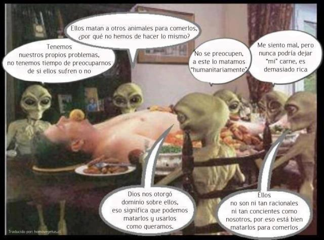 Banquete alien especista