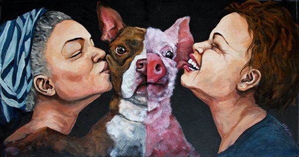 Cuadro de la artista vegana Dana Ellyn