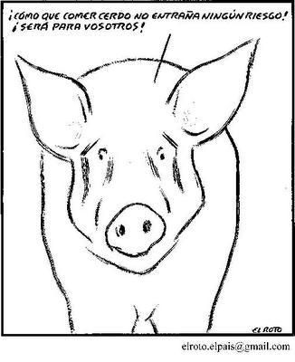 El Roto - Cerdo víctima de comer cerdo