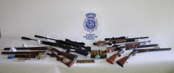 Escopetas confiscadas