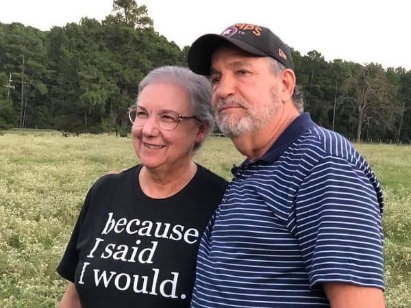 Los ex ganaderos Richard Traylor y su mujer Cindy