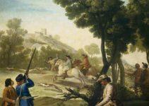 La caza de la codoiz, Francisco de Goya (1775)