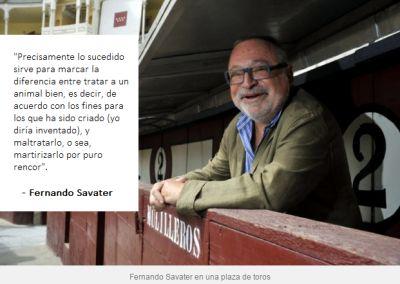 Fernando Savater y el maltrato animal