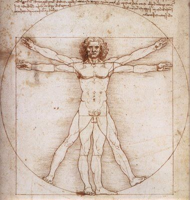 Home de vitruvi de Leonardo Da Vinci