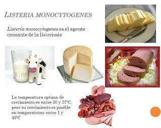 Carne y leche origen de listeria