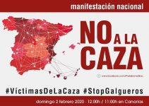 Manifestación NO A LA CAZA. Convoca: Plataforma NAC