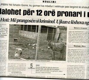 La noticia en un periódico