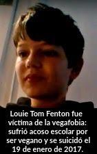 Louie Tom Fenton, víctima mortal de la vegafobia